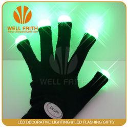 China wholesale led flashing gloves party favor led light up gloves