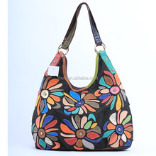 Baiyi Fully lined interiors Large Colorful Wild Flower Laptop Tote Bag
