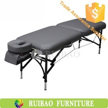 Pu Leather Massage Table Spa Massage Table with wooden legs Massagers