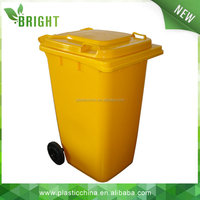 Outdoor hdpe yellow 240L plastic hospital medical waste box