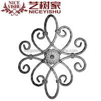 Garden ornaments and accessories for wrought iron gate fence
