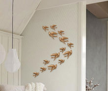 big Three-dimensional resin birds hanging Swallows TV backdrop bedroom wall decorations wedding gifts for guests 15030