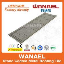 Diseño colorido Wanael piedra recubiertos con techo de metal baldosas / sustitución de baldosas de plástico del techo