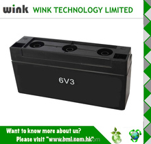 Hot Selling Plastic 6v 3ah Back up Battery Storage Case