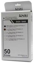 HiTi S420 S400 CN Region Printer YMCO Ribbon Cartridge 50 Print + 4x6 Photo Paper 50 Sheet