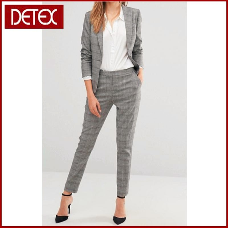Check Formal Designer Ladies Coat Pant Suits - Buy Ladies Coat Pant SuitsDesigner Ladies Coat ...