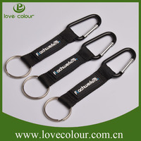 Polyester Short Carabiner Lanyard,Custom Carabiner Strap with Keyring