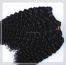 1 Piece MOQ Full Cuticle Natural Curly human hair extension 100% Brazilian virgin Afro Kinky cabelo weaves for beauty woman