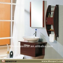 Wooden bathroom vanity storage
