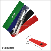 Memo pad and pen set with velvet bag holder for promotion