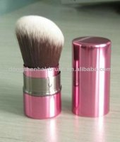 2014 best retractable kabuki brush,synthetic kabuki brush,makeup brush for free sample