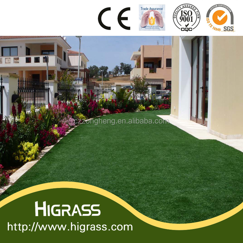 30mm pe artificial grass decoration crafts for balcony for Artificial grass decoration crafts