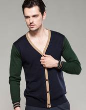 una variedad de colores de los hombres de chaqueta de punto 16603