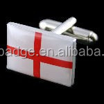 OEM China manufacturer Novelty classic flag cufflinks with epoxy , England flag cufflinks, custom make country flag cufflink