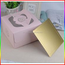 Food grade pink unique paper cardboard birthday cake box