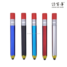 Good quality pencil shape stylus ball pen for students