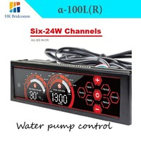a-100L(R) Six 24Watt Channel Fan speed Controller front panel 5.25 touch LCD screen Liquid Cooling / water cooling pump control