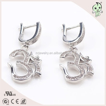 "Smart Arabic Numerals"" 3 "" Meaning Successfully 925 Sterling Silver Earring"