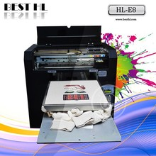 Direct To Garment Printer 6 color To Print Various Color T shirt with FREE RIP provided
