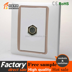 High Quality one gangUniversal socket,double TV satellite socket