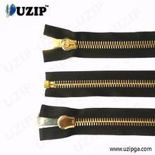 big size gold metal sliders and zippers for luggage