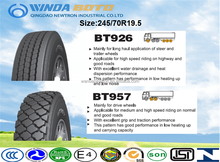 Radial truck tyre TBR tyre for all position wheels BOTO brand 245/70R22.5 for high way and mining road