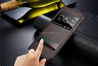 Low price china mobile phone two window stand leather funky mobile phone case for samsung galaxy a8 leather case china wholesale