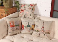 2015 Fashion Wholesale Custom Digital Linenette Decorative Pillow