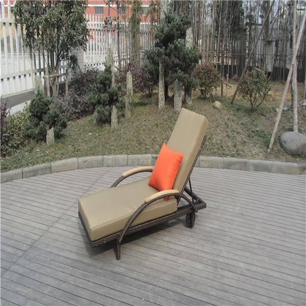 excelente jardín muebles de ratán en movimiento del sexo chaise lounge