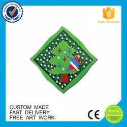 Promotional gifts Christmas tree custom pvc rubber fridge magnet