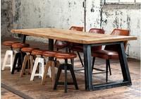 французский промышленный дизайнер мебели новые ретро стиль деревянный стол стол лофт