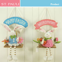 Lovely spring easter holiday door hanging decoration easter rabbit