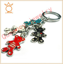 2014 Yiwu new product wholesale cute dog and house keychain charms