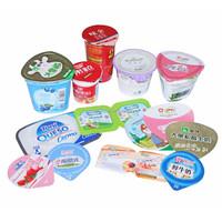Pre cut aluminium lidding foils yoghurt plastic tubs