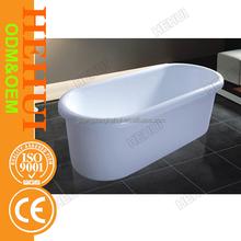 2RC-D6677 plastic portable bathtub and bathtub shower combination with wooden metal bathtub