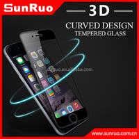 3D curved tempered glass screen protector for iPhone 6s, curved edge glass for s6 edge and edge plus