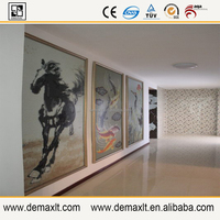 asian QBS running horse mural demax build glass mosaic tile