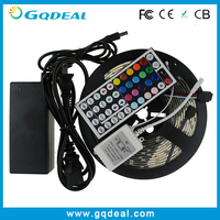 Wholesale CE ROHS DC12V RGB LED Strip Light SMD 5050 Waterproof Wireless 300 LED Flexible Strip Outdoor+Remote Controller+Power