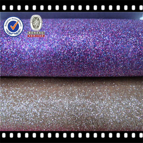 Wholesale pu glitter fabric for glitter leather fabric for Cheap glitter wallpaper