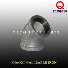 factory elbow hot galvanized malleable cast iron 45 degree metal pipe fitting
