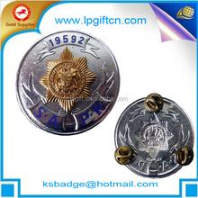 advertisement badges metal name badge epoxy paint die cut casting punching masonic name badges