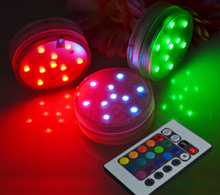 10LEDs high quality Remote Controlled led submersible light candle