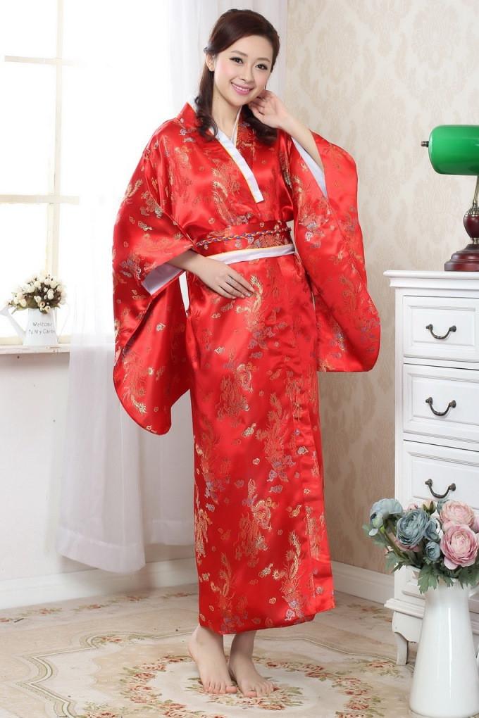 Винтаж светло голубой японских женщин атласные шелковые кимоно юката вечернее платье цветок 3 цвета h0052