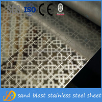 201 304 color mirror etching 4x8 decorative stainless steel sheet