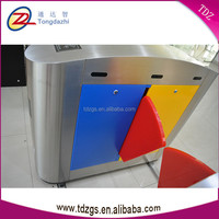 China factory colorful CE certified access control flap turnstile barrier gate price for primary school