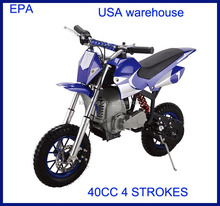 2015 DIRTBIKE pocket bike with EPA for Canada USA market, USA WAREHOUSE,EPA approved 40MT-1