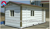 Custom made steel structure flat roof container house low cost for sale
