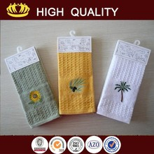 wholesale custom cheap plain white cotton tea towel