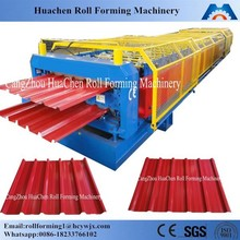 Corrugated iron roofing sheet roll forming making machine made in China