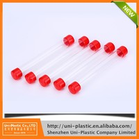 Wholesalers thin plastic tube with two end caps